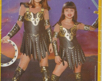 UNCUT Butterick 5726 Xena Warrior Princess Costume Pattern Girls' Sizes XS-L