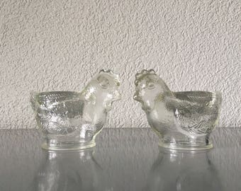 Two Vintage German WMF Glass Egg Cups