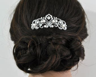 Swarovski pearl Wedding Haircomb, Wedding hair comb,Bridal hair comb,Wedding hair piece,Bridal comb,Wedding hair clip,Bridal