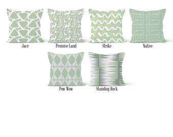 Green Pillow Cover, Decorative Throw Pillow Covers, Euro Pillow Sham 16 x 16, 18 x 18, 20 x 20, 22 x 22, 24 x 24, 26 x 26