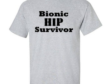 Get well. Get well gift. Hip replacement gift. Medical. Hospital. Broken bone gift. Surgery. Patient. Bionic. Surgery gift.