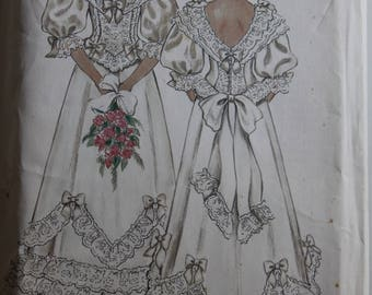 Victorian Ruffled Dress- New Look 6359 - Uncut - Size 8-10-12-14-16-18