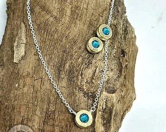 223 Recycled Bullet Casing Silver Plated Chain