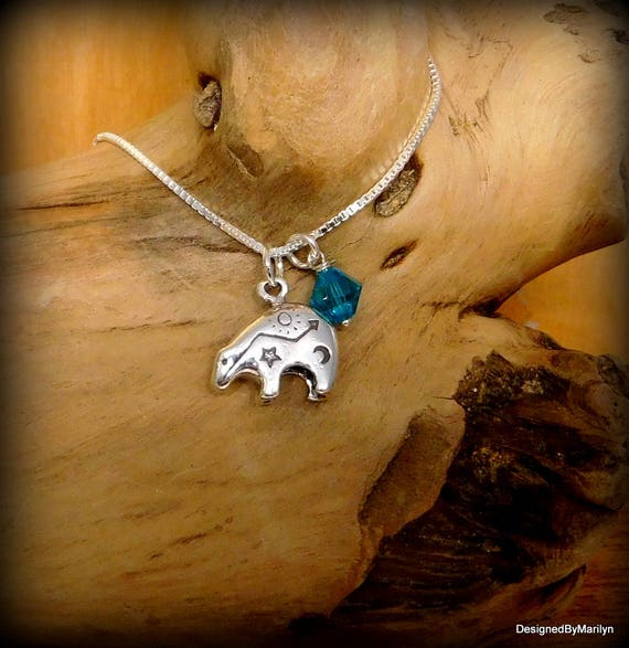 Sterling silver Zuni bear necklace,  southwestern jewelry, bear totem, Zuni bear, pow wow, spirit of the bear