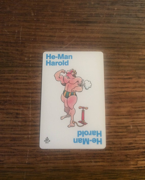 Old Maid card replacement from 1985 Hoyle deck, He-Man Herold, replacement Old Maid cards, complete your Old Maid deck, Nothings New Here