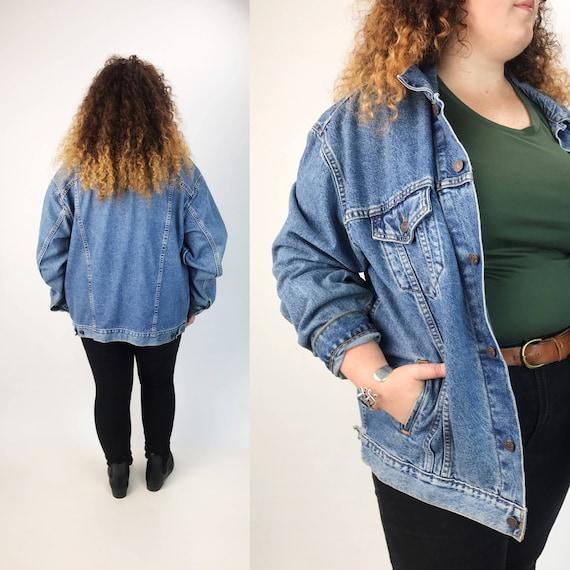 90's Levis Denim Jacket 2XL Mens Vintage Outerwear - Americana VTG Soft Slouchy Blue Jean Jacket - Levis Denim Classic Cut Plus Size Jacket