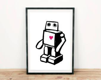 Robotey. Printing DIN A4.