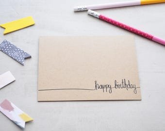 Neutral Birthday Card - Happy Birthday Card Set - Neutral Birthday Card Set - Birthday Card for Client - Birthday Card Office - Simple Card