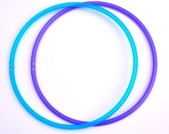 "17"" 5/8 Mini Polypro Hoops UV Blue Agate & UV Amethyst ~ Ready To Ship ~ 2 Tone Polypro Mini Hoops, Micro Mini Hoops, Purple Blue Mini Hoops"
