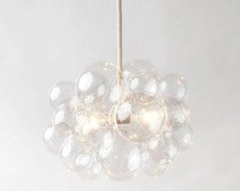 Bespoke lighting home goods by thelightfactory on etsy the 25 bubble chandelier 18 diameter custom cord options led light aloadofball Images