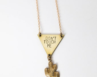 Don't Touch Me Cactus Necklace