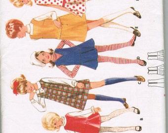 Butterick 4974 Childerns and Girls One-Piece Jumper SIZE 10