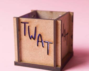 Twat Tea Light Holder - Insult Tea Light - Insultea - Katie Abey - Sweary gift - Swear gift - Insult gift - Candle