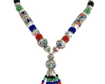 Casablanca Enameled Necklace