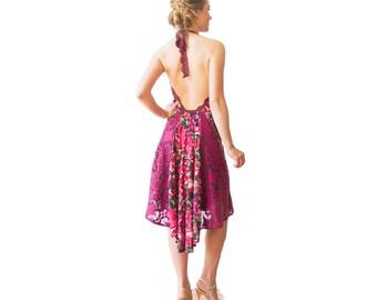 Red Drama Open Back Halter Dress - Tango Dress - Milonga Dress - Red Tango Dress - Argentine Tango Red Dress - Backless Dress - Dance Dress