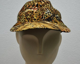 JHATS Hat Vintage Jhats Leopard Prints Cap Jhats Made in USA Allover Print Hat 6 Panel Size 54.5cm
