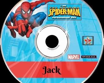 SPIDERMAN Personalised DVD starring YOU!!!