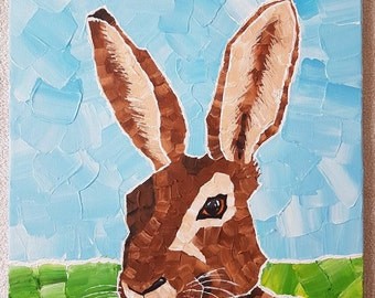 Hare bunny rabbit painting