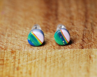 Very Small Earrings - Polymer Clay Earrings - Cute Earrings - Teeny Earrings - Hypoallergenic Earrings For Sensitive Ears - Fimo Jewellery -