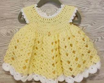 Crochet Baby Dress, Easter Dress, Crochet Spring Dress, Summer Dress, Crochet Infant Dress, Knit Baby Dress, Church Dress, Gift for Niece