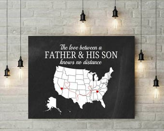 Dad Gift   Gift For Dad From Daughter   New Dad Gift   Father Daughter Gift   Canvas Print   Distance Gifts   Prints Wall Art - 68977