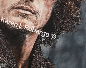 "11"" x 17"" limited edition art print of Jamie Fraser from Outlander."