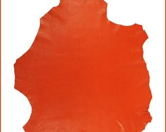 """M010-M-Big sheep skin """"VARSITY country"""" Orange (xl)."""
