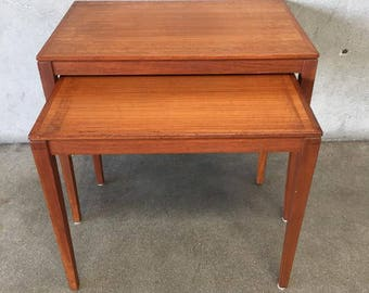 Mid Century Bent Silberg Mobler Nesting Tables (HYCKWH)