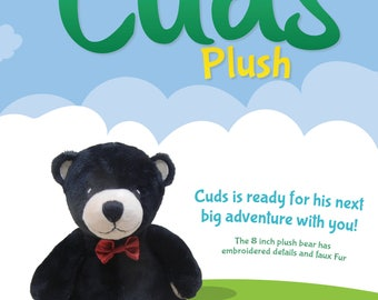 """The 8 inch """"Cuds Plush"""" The perfect companion to the """"A Tiny Teddy Named Cuds"""" children's book series!"""