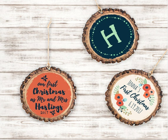 Personalized Wood Disk Ornament