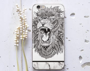 Lion Marble Case iPhone SE Case iPhone 6s Case for Samsung Galaxy Note 5 Case iPhone 8 iPhone 6 Plus Case iPhone X Case iPhone 7 WC1084