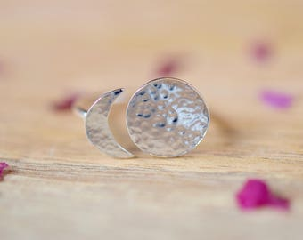 Moon Phase Ring | Silver Moon Ring