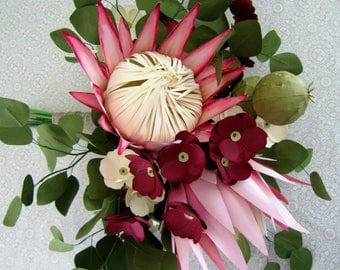 DIY Paper Protea Pattern and Instructions PDF SVG