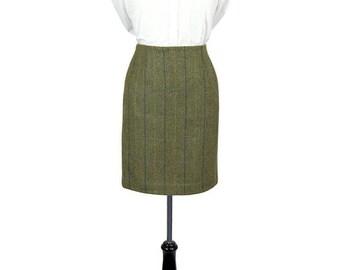 """Tailored Tweed 21"""" Skirt (Galloway Tweed)"""