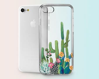 iPhone 8 Cacti iPhone 8 Case iPhone 8 Plus Cute iPhone 8 Custom S8 Plus TPU Case Personalized iPhone 7 iPhone 8 Case for Samsung S8 AND1027