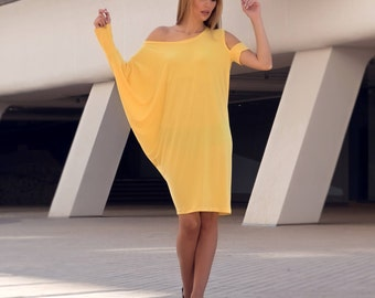 Dress Yellow, Tunic Dress, Tunic Tops, Tunic, Women Tunic, Plus Size Tunic, Yellow Tunic dress, Womens tunic, Summer Tunic, Markiiza