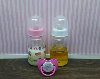 Reborn Baby Bottles, Reborn Juice Bottle & Reborn Milk Bottle, Magnetic Reborn Pacifier, Putty Reborn Pacifier, Reborn Babies, Ready to Ship