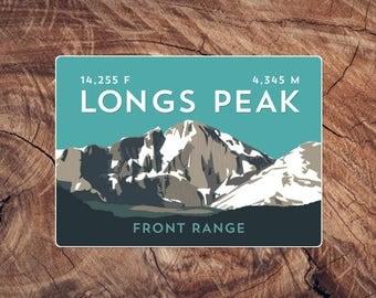 Longs Peak Colorado 14er Sticker