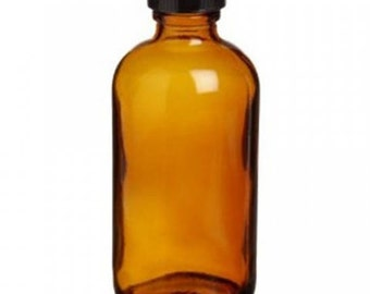 2oz/60ml Amber Glass Bottle with Lid SET OF 4