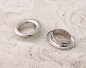 Metal Eyelets with washer oval eyelet grommets 10sets silver grommet eyelets large grommets for clothes