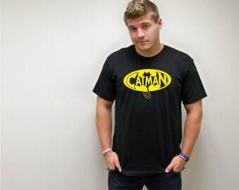 Mens cat shirt, Catman T-Shirt, Cats, Cat man, Men Love Cats, Cat Shirt, Catman Shirt, Funny TShirt, Fathers Day gift