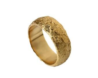 White Gold Wedding Band Engraved Scrolls Leaf Men
