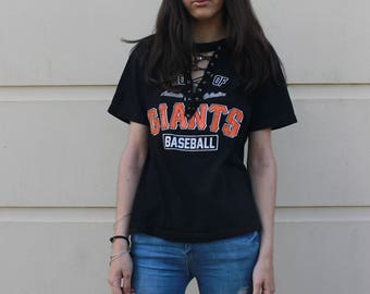 Giants Vintage Lace Up Shirt
