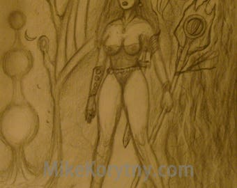 Girl in the Fantasy Forest