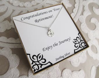 Retirement Gifts for Women, Retirement Present, Graduation Necklace, Compass Rose Necklace, Retirement Gift Ideas, Graduation Gift for Her