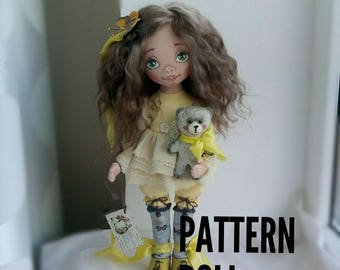 Pattern doll textile doll clothes Body PDF Sewing Pattern Rag Doll Pattern pdf Blank Rag PDF Doll Body Doll Form
