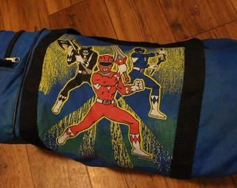 Vintage 1993 Mighty Morphin Power Rangers Duffel Bag - OS
