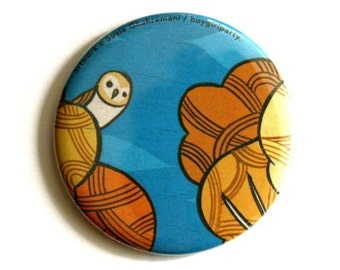barn owl mirror, barn owl gifts, wildlife mirror gift, small pocket mirror, yankee swap gifts, quirky owl gift, owl mirror, nature gift