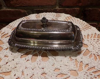 Vintage Silver Plate Butter Dish, Silver plate Covered Butter Dish, Tableware, Butter holder, Morethebuckles