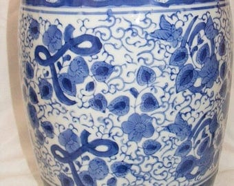 Store Wide Sale Blue & White Floral Jar by Three Hands Corp.